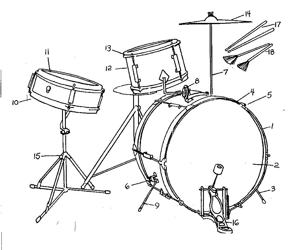 85  drum set drawing png